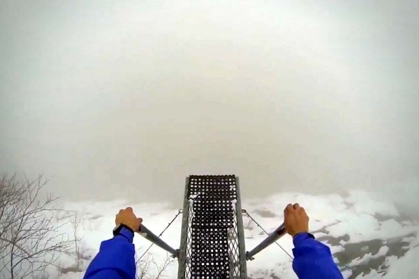 What's It Like to Base Jump Into a Blinding Fog? This.