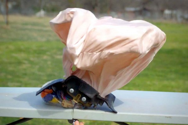This Looks Like an Airbag. And It Is. But In Slow-Mo and… Whoa!