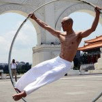 At First, This Looks Like a Shaolin Monk With a Hula Hoop. But Watch Him Spin and… Whoa!