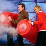 A Science Guy Shows Ellen DeGeneres How to Shoot Giant Smoke Rings With an Air Cannon.