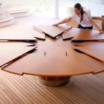 This Looks Like an Ordinary Dining Table. And It Is. But Give It a Twist and… Pure Genius!